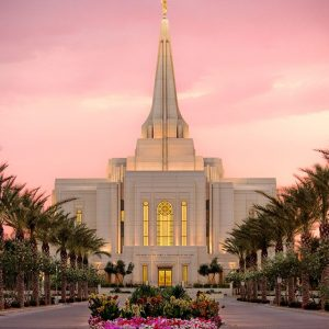gilbert-temple-pink-sunset