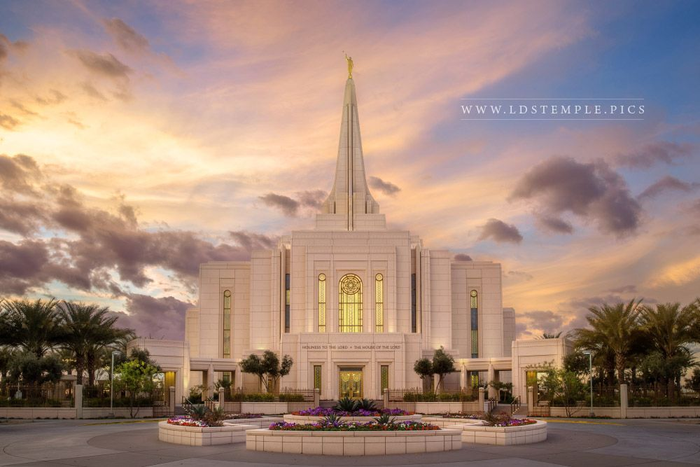 Gilbert Temple Soft Summer Sunset Lds Temple Pictures