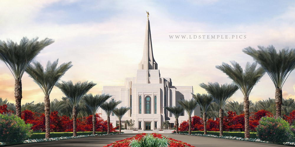 Gilbert Temple Summer Afternoon Painting Print