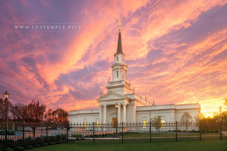 Hartford Temple Heavenly Light Print