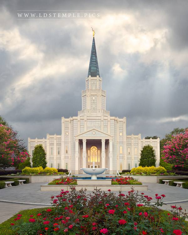 Houston Temple A Light Shineth Print