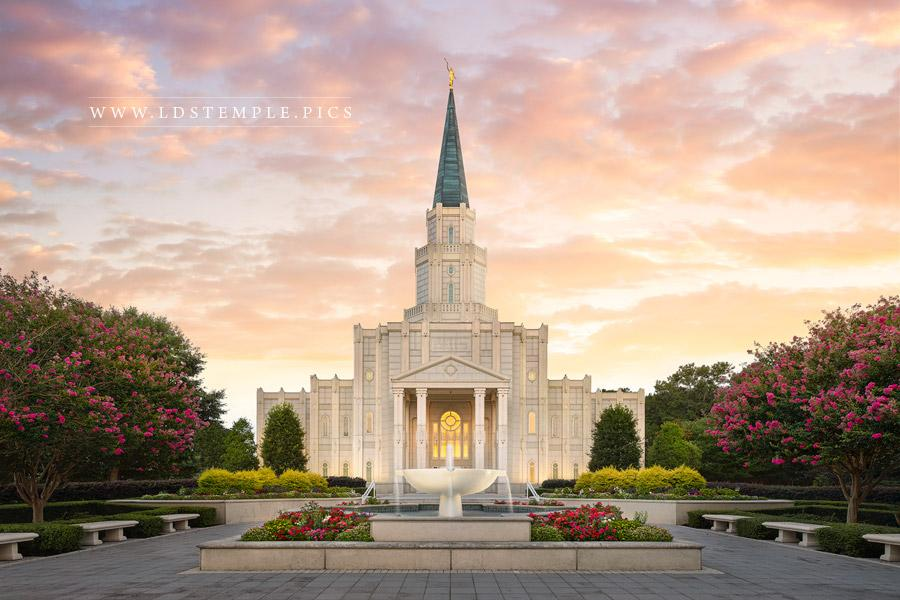 Houston Temple Glory To The Highest Print