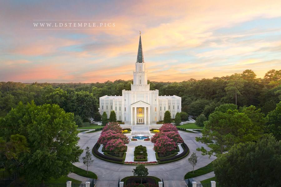 Houston Temple Heavenly Light Print