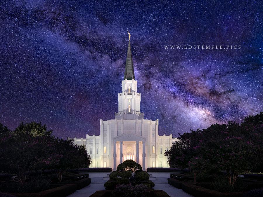 Houston Temple Eternal Creations Print