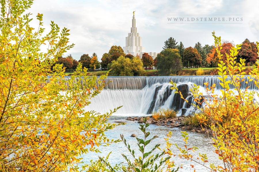 Idaho Falls Temple – Autumn Falls