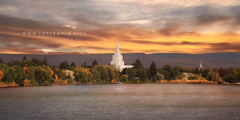 Idaho Falls Temple – Autumn Skies