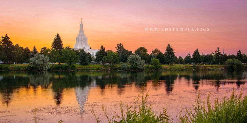 Idaho Falls Temple Reflection of Color Print