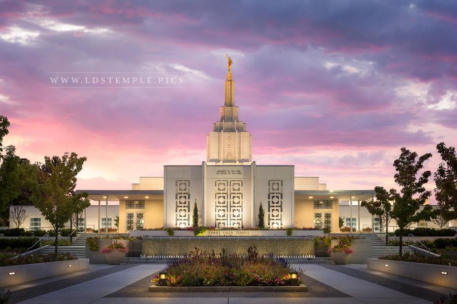 Idaho Falls Temple Eventide Print