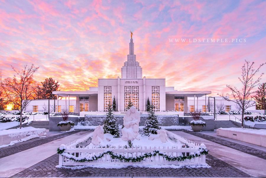 Idaho Falls Temple Nativity Print