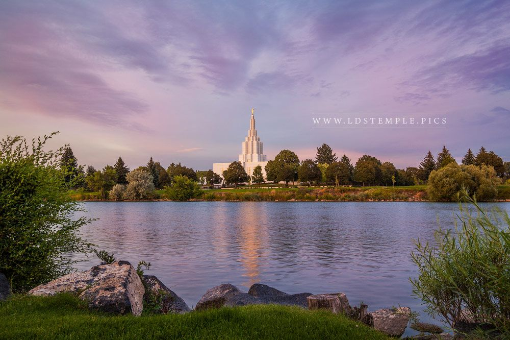 Idaho Falls Temple Pastel Sunset Print