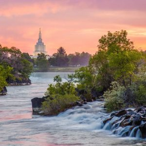idaho-falls-temple-summer-sunset