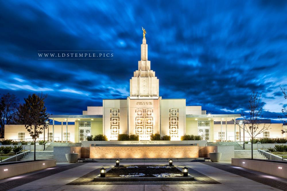Idaho Falls Temple Twilight Lds Temple Pictures