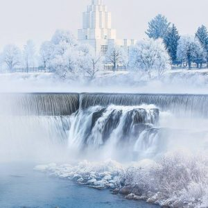 idaho-falls-temple-winter-waterfalls