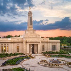 indianapolis-temple-aerial-sunset