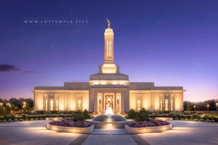 Indianapolis Temple Eternal Glory Print