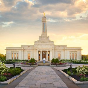 indianapolis-temple-golden-sunset
