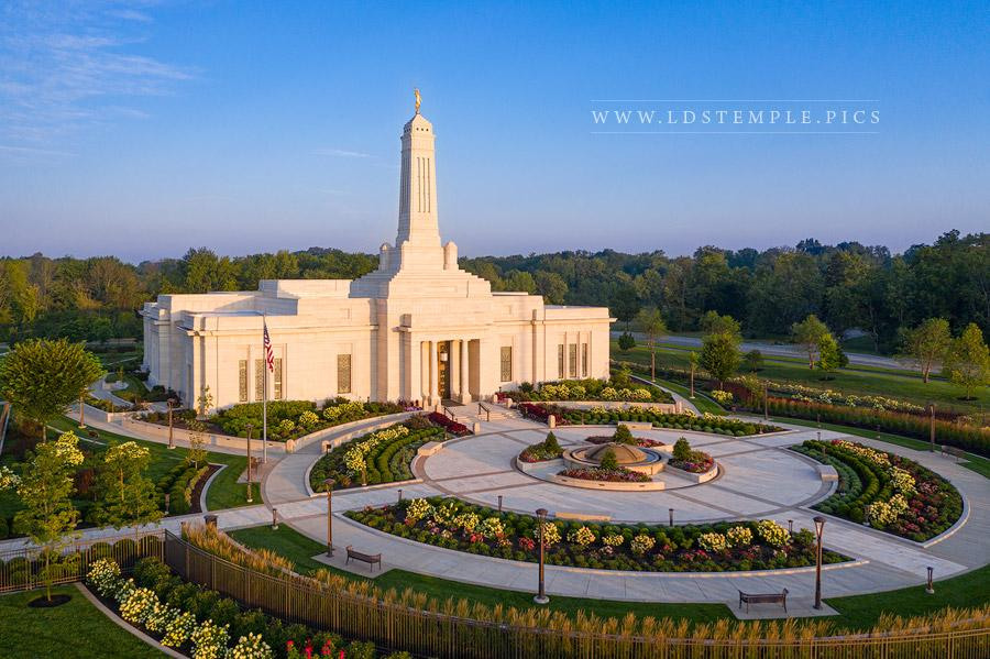 Indianapolis Temple Morning Light Print