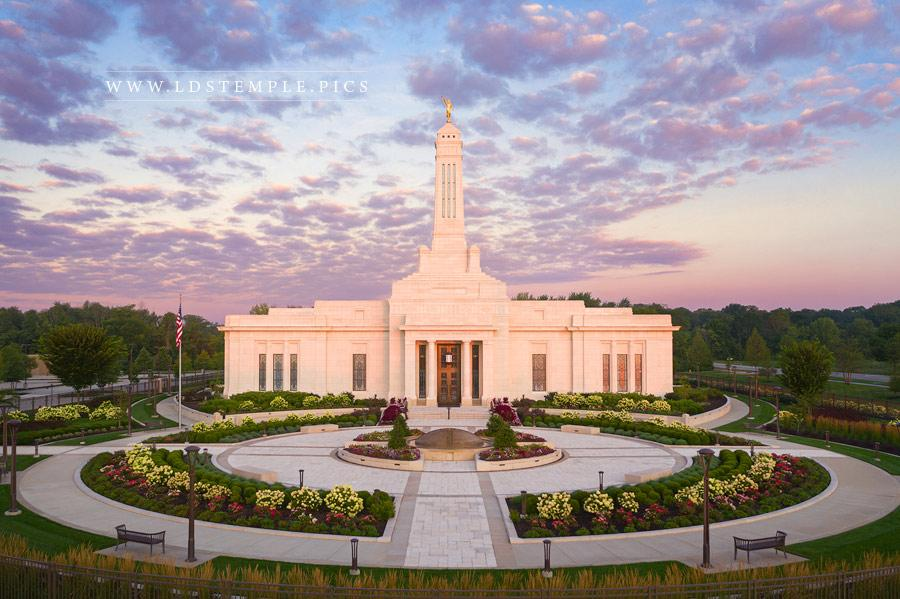Indianapolis Temple Pastel Sunrise Print