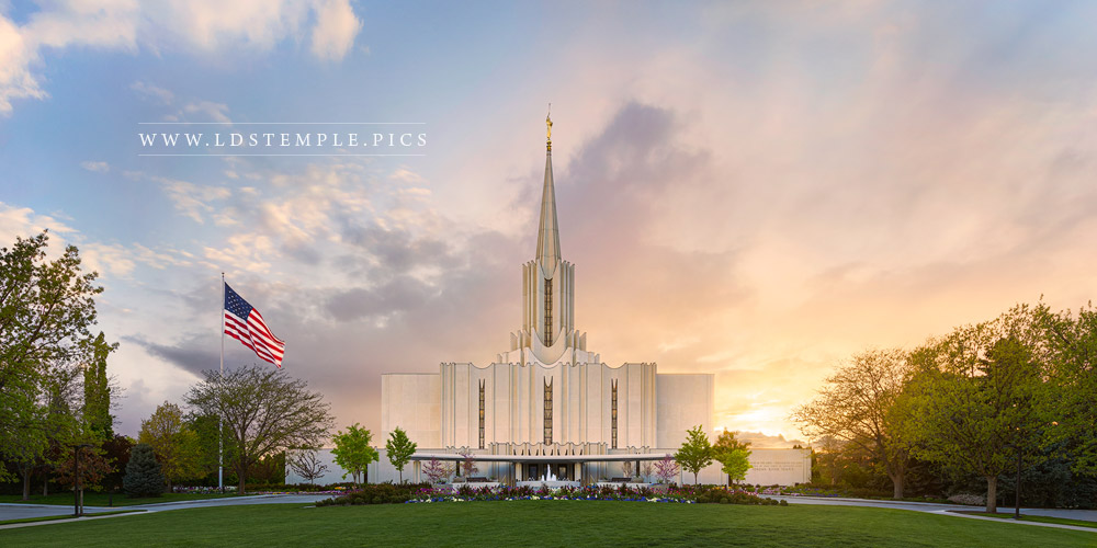Jordan River Temple Glory To The Highest Print