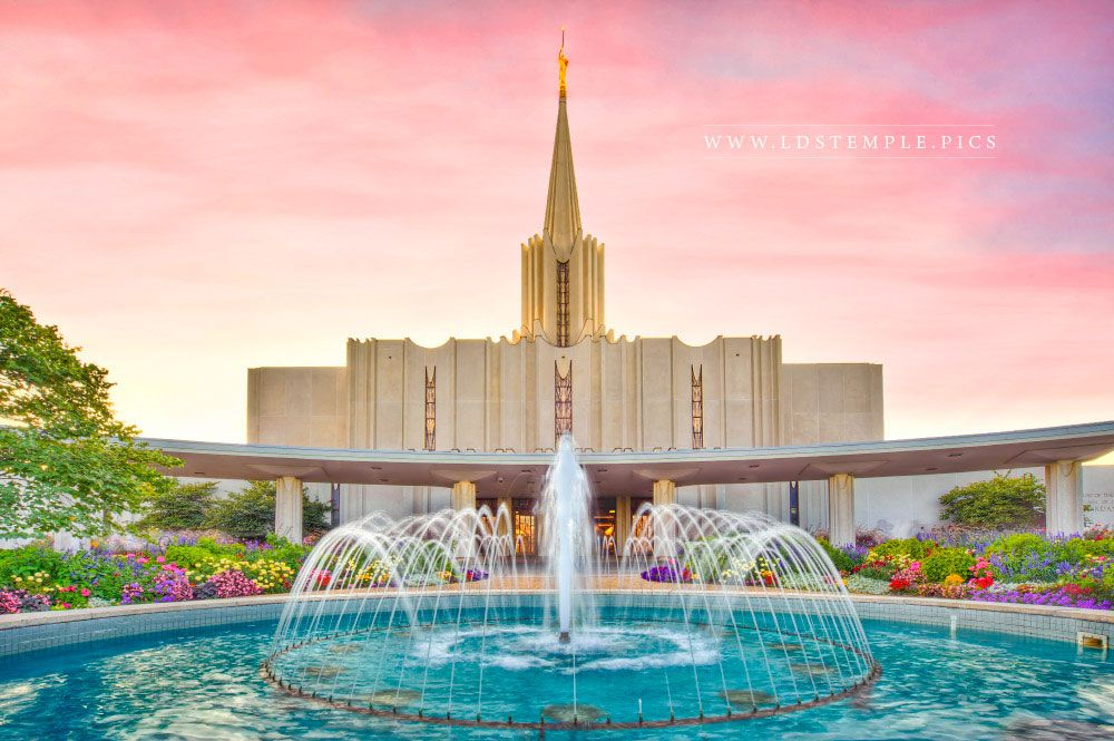 Jordan River Temple Living Waters Print