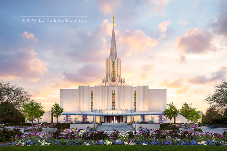 Jordan River Temple Spring Sunset Print