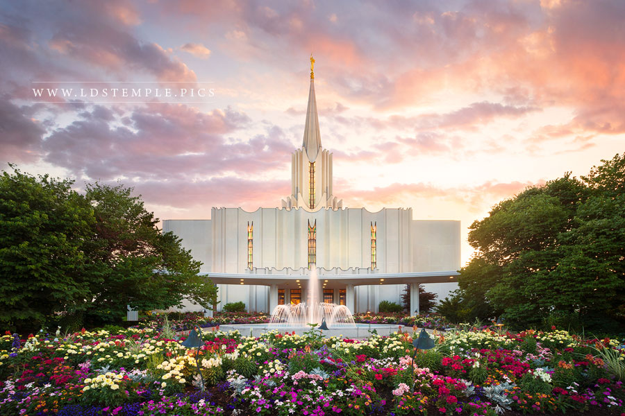 Jordan River Temple Summer Glow Print