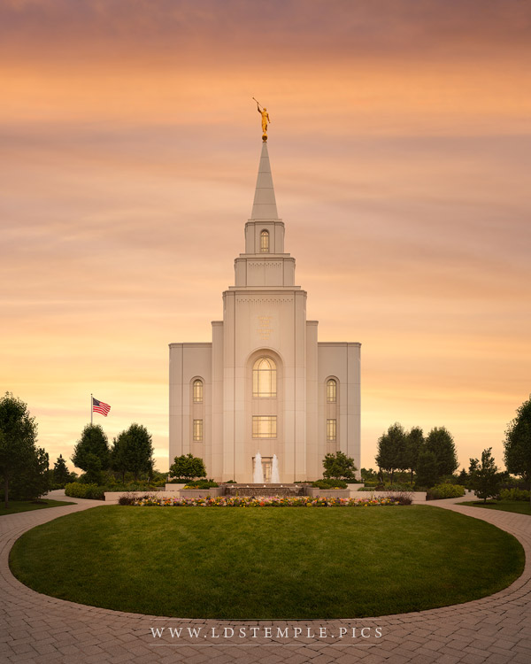 Kansas City Temple Golden Print