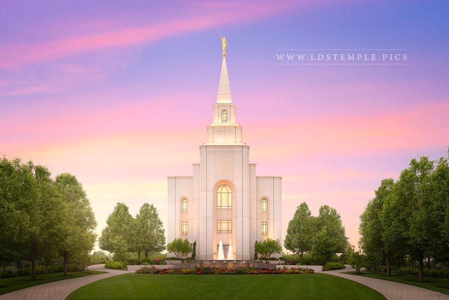 Kansas City Temple Heaven's Light Print