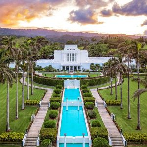 laie-temple-aerial-sunset