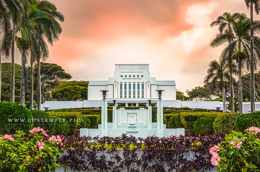 Laie Temple Heavenly Paradise Print