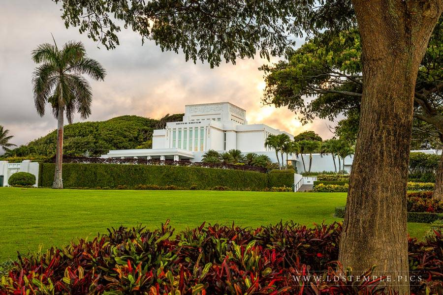 Laie Temple October Sunset Print