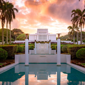 laie-temple-reflecting-pool-sunset-pano