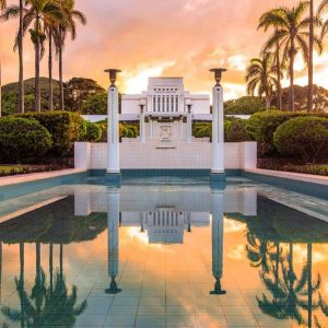 laie-temple-sunset-reflection