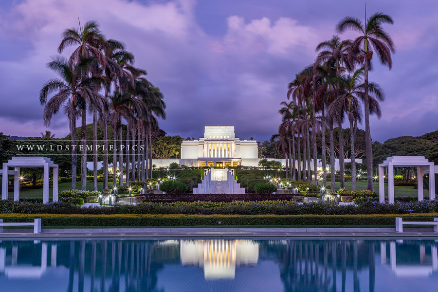 Laie Temple Twilight Print