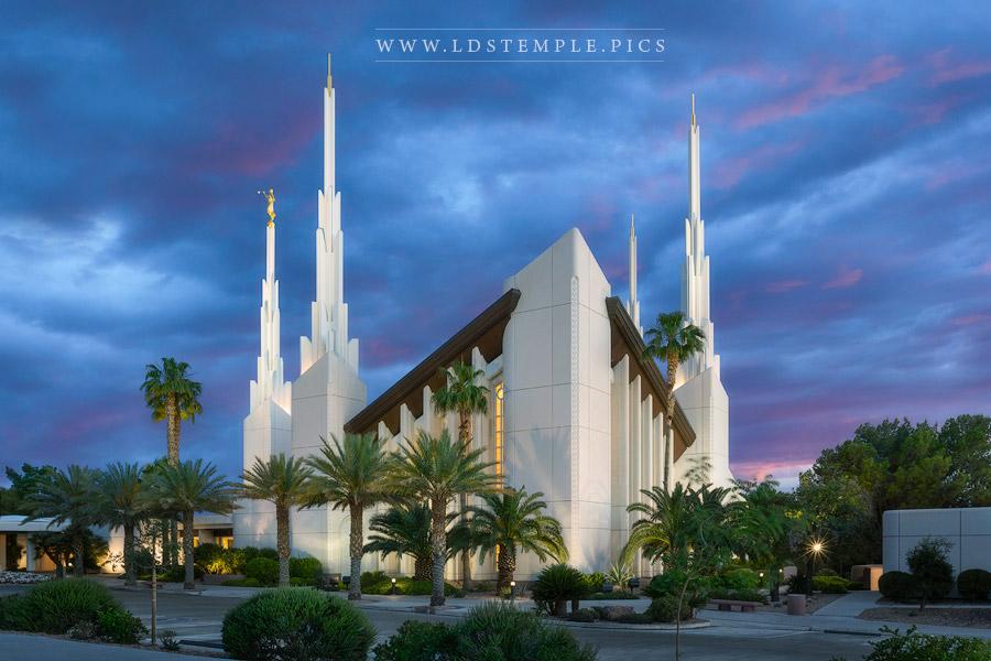 Las Vegas Temple Blue Skies Print