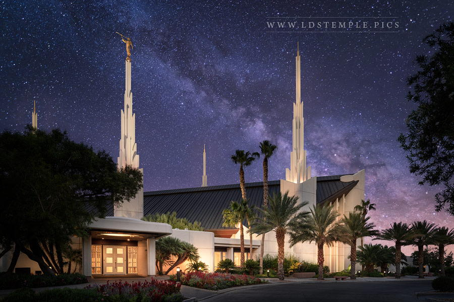 Las Vegas Temple Celestial Print