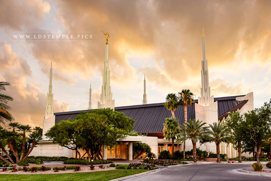 Las Vegas Temple Drive Print