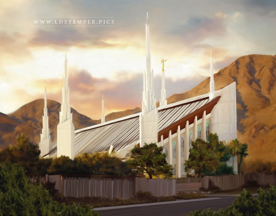 Las Vegas Temple – Summer Sunset Painting