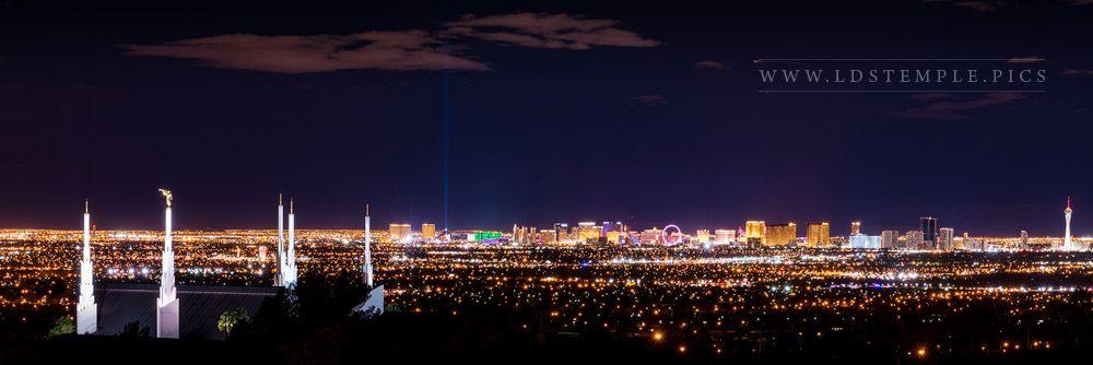 Delightful Las Vegas Temple City Lights