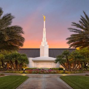 las-vegas-temple-sunset-glow