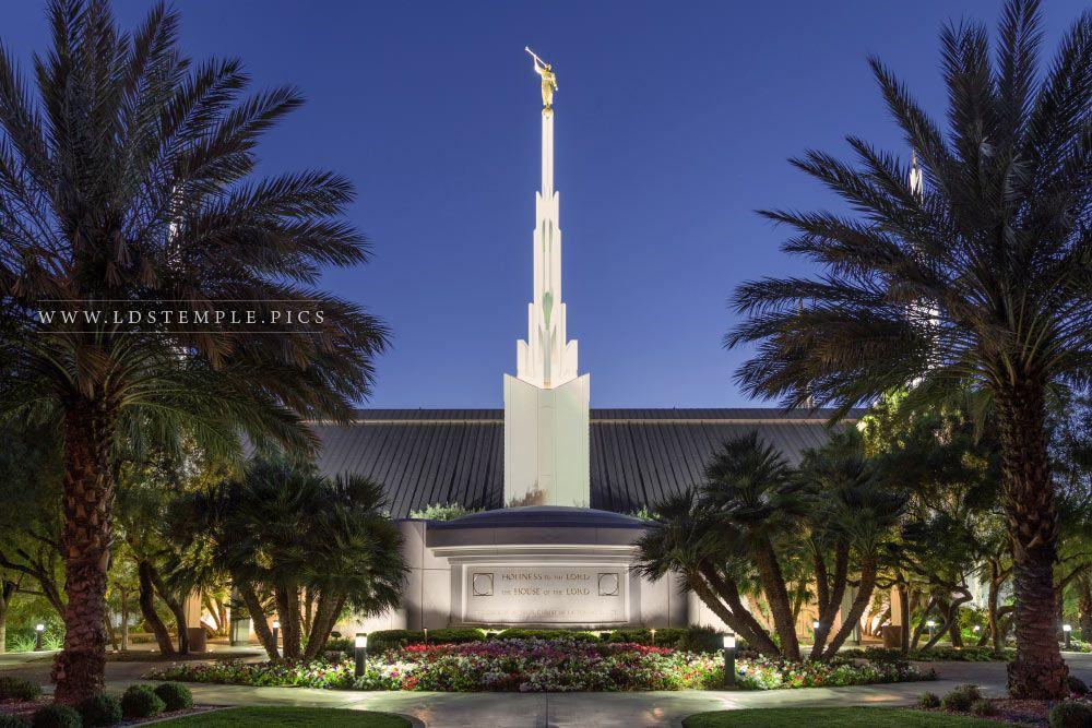 Las Vegas Temple Twilight Print