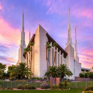 las-vegas-temple-vibrant-sunset