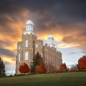 logan-temple-autumn-sunrise