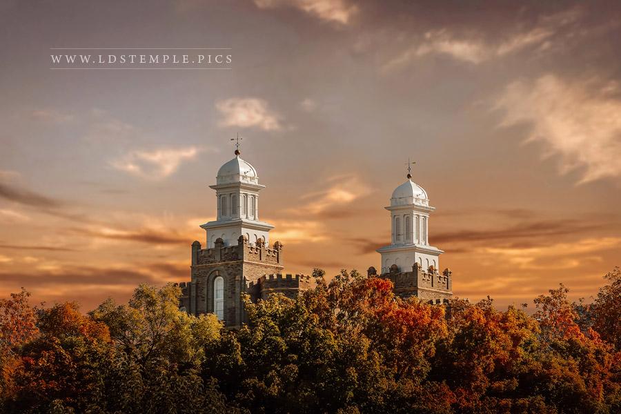 Logan Temple Colors Of Autumn Print