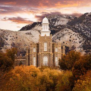 logan-temple-fall-sunrise