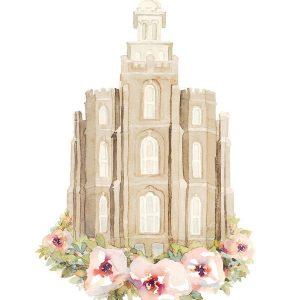 logan-temple-floral-watercolor-painting
