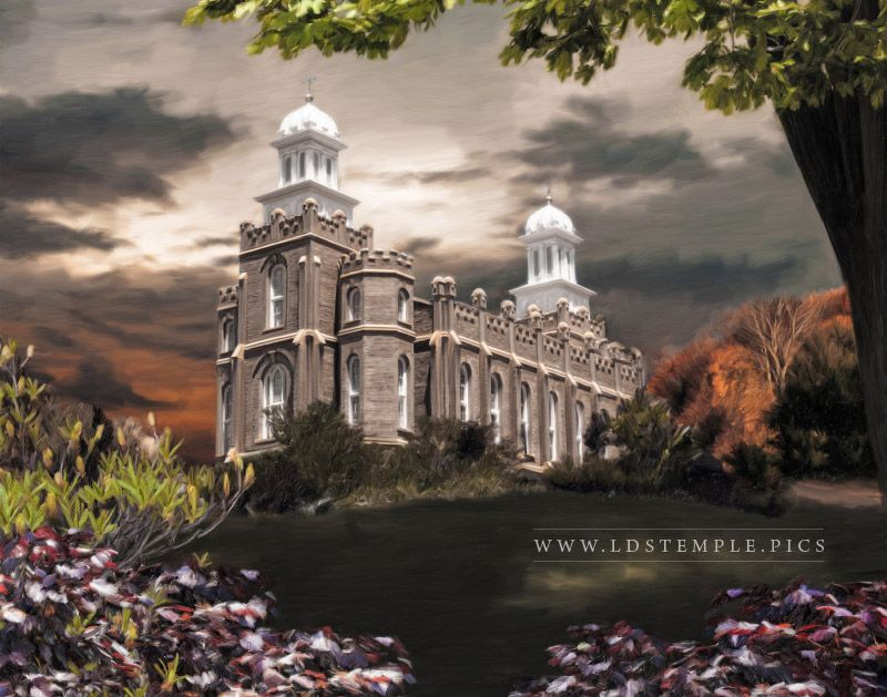 Logan Temple Light in the Storm Painting Print
