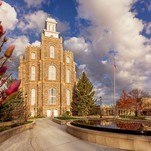 logan-temple-spring-morning