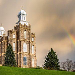 logan-temple-spring-rainbow