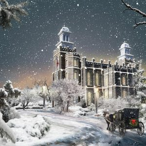 logan-temple-winter-carriage-painting
